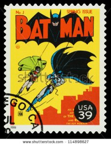batman:robin postage stamp